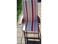 6 wooden garden chairs with cushions