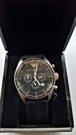 Emporio Armani Men's Chronograph Watch AR0527 - Black