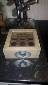 Shabby Chic Wooden Egg box excellent condition