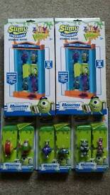 Monsters University storage houses and slimy figurines