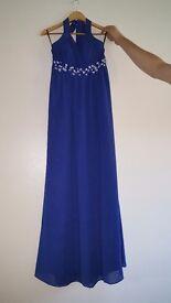 blue dress with diamante detailing