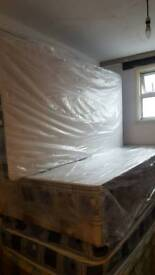 Single bed base with mattress x2