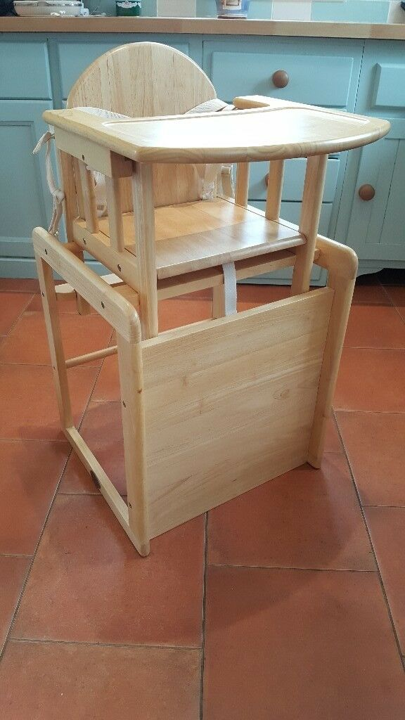 Baby Weaver Wooden High Chair Converts To And Play Table Excellent Condition