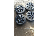 Vauxhall Corsa Alloy Wheels And Tyres 185/55/R15 SXI BLACK FACE