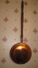 Copper bed warming pan