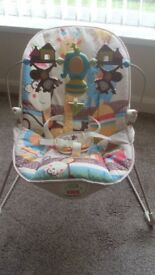 Fisher Price vibrating baby bouncer .Good clean condition.
