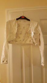 White disney tinkerbell cardigan 9-10 yrs
