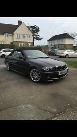 Bmw 318CI m sport convertible, black in colour in excellent condition