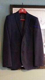 Mens Next three piece suit blue