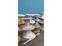 CABLE DRUMS REELS SPOOLS FOR UPCYCLING OR RUSTIC PATIO FURNITURE