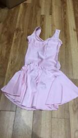 Pale pink ballet leotard & skirt