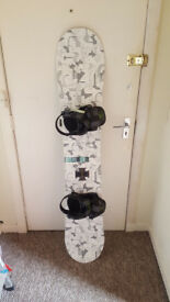 Forum Recon snowboard and bindings. Used Once. Extremely good condition and now extremely rare.
