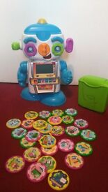 V Tech Gadget robot with letters and games chips