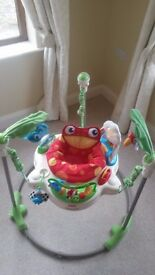 Like new- Fisher Price Rainforest Jumperoo (batteries inc.)