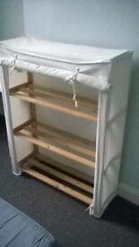 Canvas shelf unit