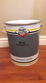 FOR SALE BRAND NEW/UNOPENED 20 LITRE , WHITE OIL BASE GLOSS