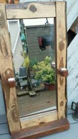 Reclaimed wood with genuine 1940s mirror