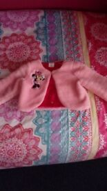 Disney girls pink fur minnie mouse jacket age 5-6