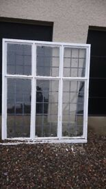 Antique timber framed window