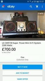 LG AUDIO CM9630 DJ SYSTEM