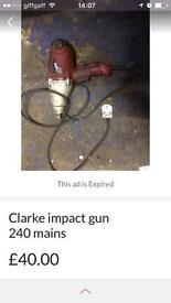 Clarke 1/2 inch impact gun 600nm tighten