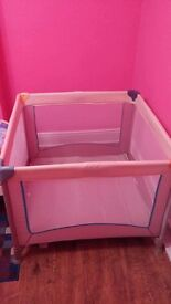 Hauck square travel cot nearly new.