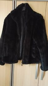 Beautiful black faux fur jacket
