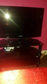 """32"""" Samsung TV and stand for sale"""