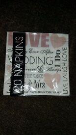 Wedding Napkins Serviettes 3 ply 8 x pack of 20
