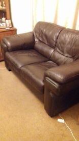 REDUCED Very comfortable brown 2 seater sofa