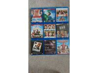 Selection of blu-rays, will sell as bulk or individually
