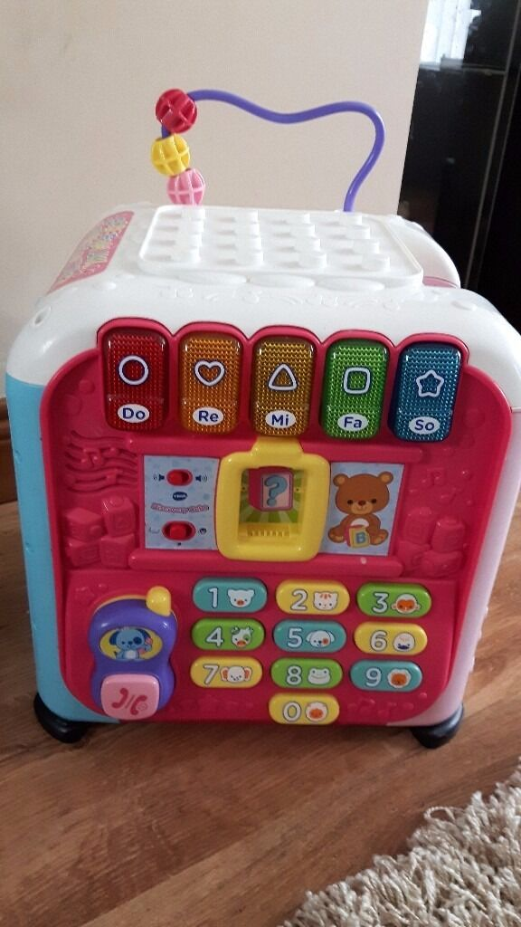 Vtech Discovery Cube (Pink) Baby Toy - GREAT CHRISTMAS GIFT IDEA