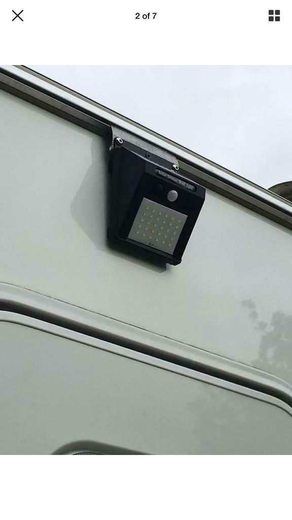 30 LED caravan / motorhome Solar PIR light - slides up awning rail  | in  Rushmere St Andrew, Suffolk | Gumtree