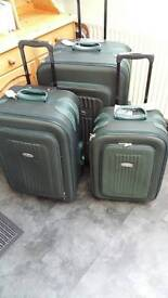 Set of three suitcases