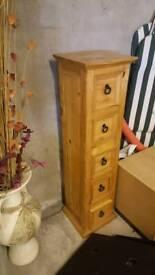 Tall set pine drawers