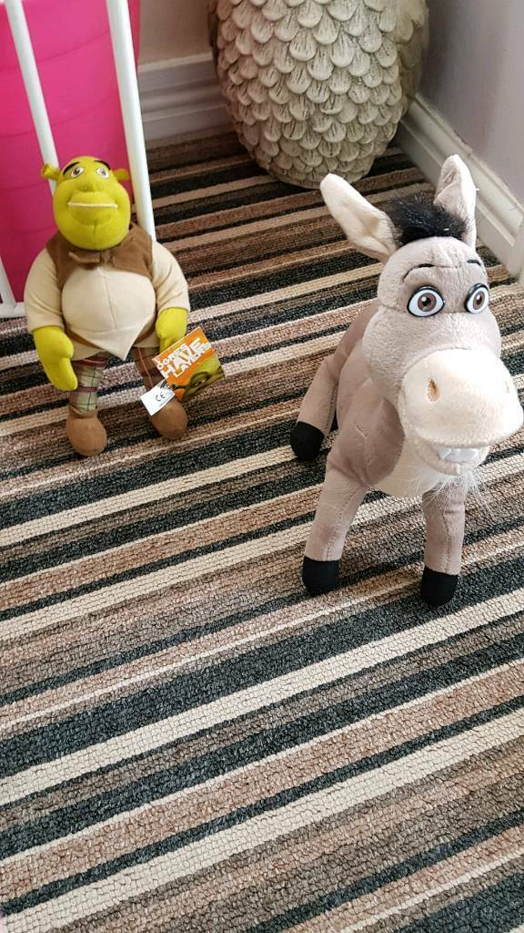 Shrek and donkey teddy