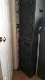 Dj speakers,amp,mixer...