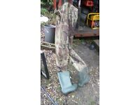 Waders. Chest length. Size 45 / UK 12 Green and brown camouflage colour.
