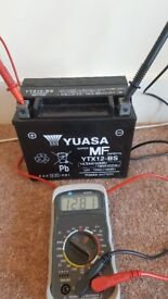 New Unused Charged Motorcycle Battery YUASA YTX12-BS