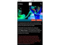 Tickets for Beats on Pointe @ The Peacock Theatre, London, 24th Feb, 7.30pm