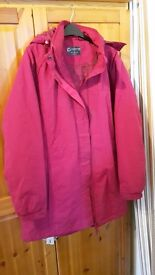 Pink winter jacket, size 16