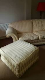 Harrods sofas there peice suite cream