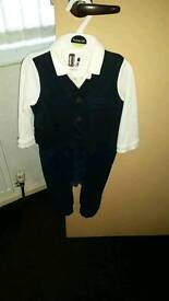 Boys 12-18 months all in one suit