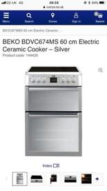 BEKO BDVC674MS 60 cm Electric Ceramic Cooker – Silver new graded boxed
