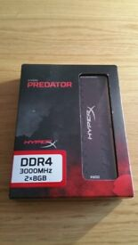 Kingston HyperX Predator Black 16GB (2x8GB) DDR4 3000MHz DIMM Desktop Memory XMP