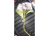 Artificial Hydrangeas x 7 Purple