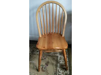 Solid wood chair - excellent condition