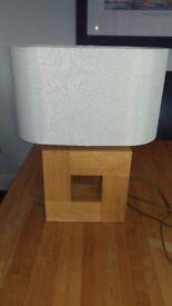 Solid oak table lamp