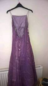 Size 12 shimmering purple gown