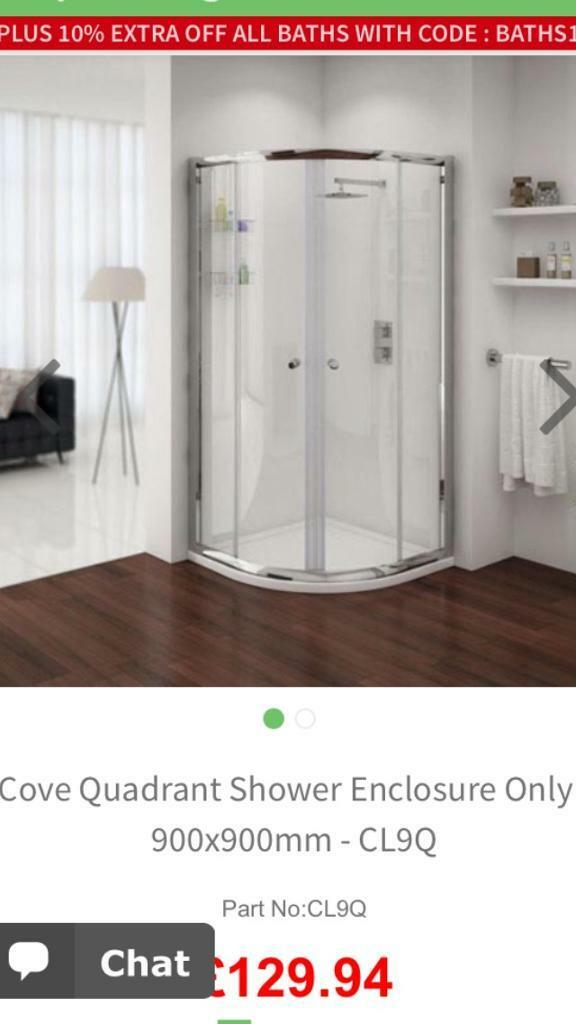 Shower Enclosure 900x900mm